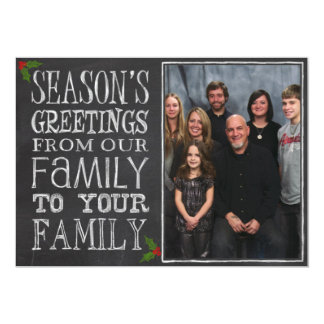 Chalkboard Season's Greetings 13 Cm X 18 Cm Invitation Card