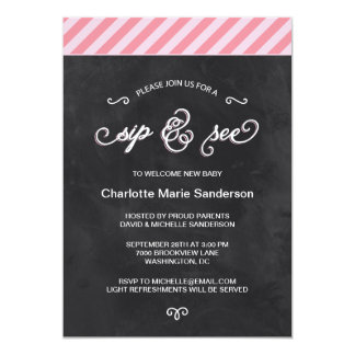 Chalkboard Sip and See Card