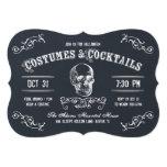 Chalkboard Skull Halloween Cocktail Party 13 Cm X 18 Cm Invitation Card