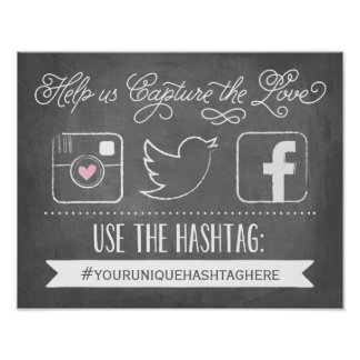 Chalkboard Social Media Hashtag | Wedding Decor