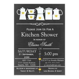 chalkboard stock the kitchen Bridal shower Invite