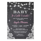 Chalkboard String Lights Baby It's Cold Outside Card