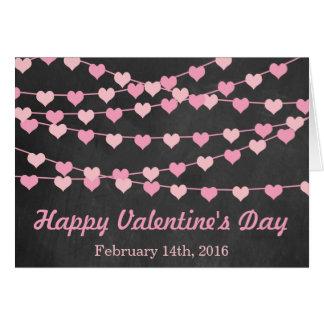 Chalkboard String Love Heart Happy Valentine's Day Greeting Card