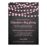 Chalkboard String Love Heart Valentine's Day Party 13 Cm X 18 Cm Invitation Card