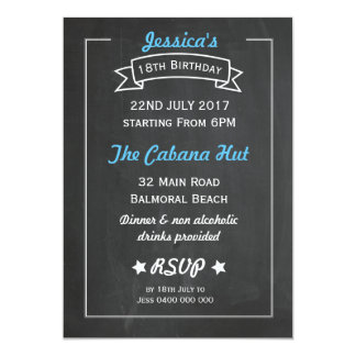 Chalkboard Style Birthday Invitation