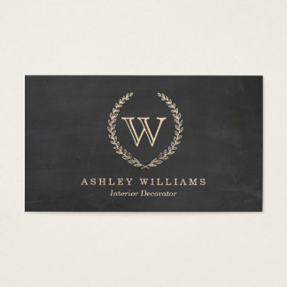 Chalkboard Style Monogram Business Cards