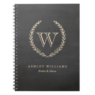 Chalkboard Style Monogram Notebook