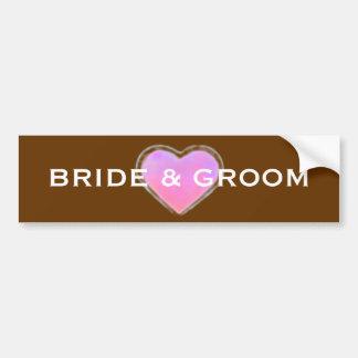 Chalkboard Style WEDDING Gift Bumper Sticker