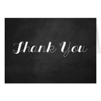 Chalkboard Thank You Card