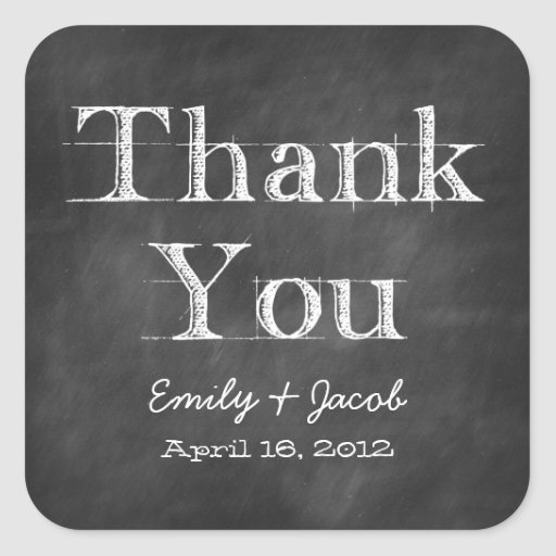Chalkboard Thank You Favor Tags Stickers