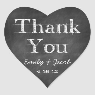 Chalkboard Thank You Heart Favor Tags