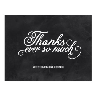 Chalkboard Thank You Postcards