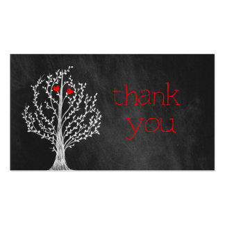 Chalkboard Theme Thank You Business Card
