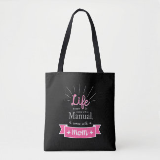 """""""Chalkboard"""" Tote with a Quote for Mom"""