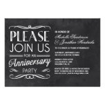 Chalkboard Typography   Anniversary Party Invite