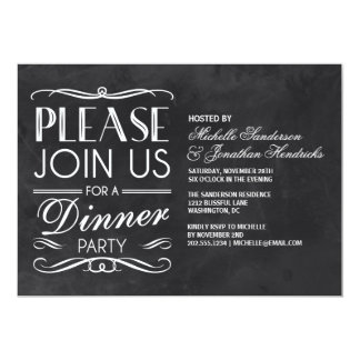 Chalkboard Typography | Dinner Party Invite