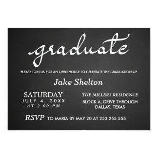 Chalkboard Typography Open House Graduation Card