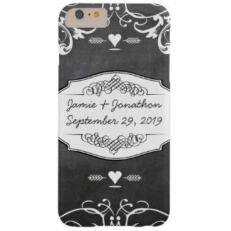 Chalkboard Typography Weddings Barely There iPhone 6 Plus Case