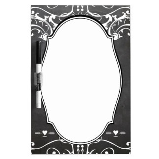 Chalkboard Typography Weddings Dry Erase Whiteboard