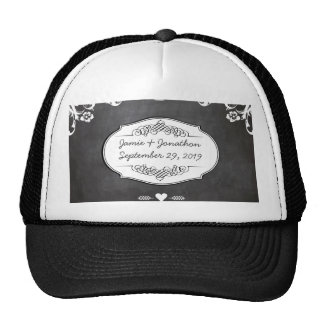 Chalkboard Typography Weddings Trucker Hat
