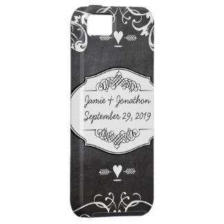 Chalkboard Typography Weddings iPhone 5 Cover