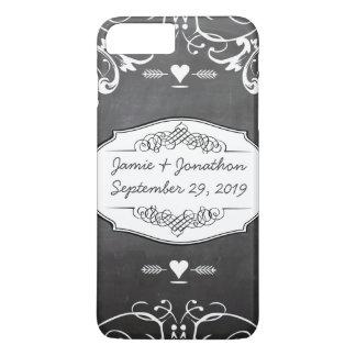 Chalkboard Typography Weddings iPhone 7 Plus Case