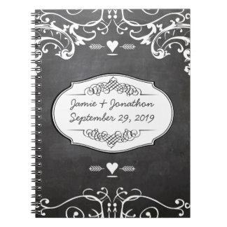 Chalkboard Typography Weddings Spiral Notebook
