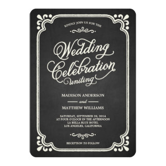 Shop Zazzle's selection of chalkboard wedding invitations for your special day!