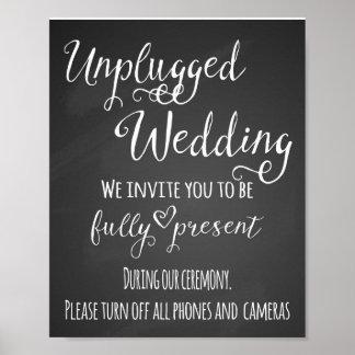 Chalkboard unplugged wedding print