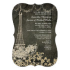 Chalkboard Vintage Paris Parisian Bridal Shower Card