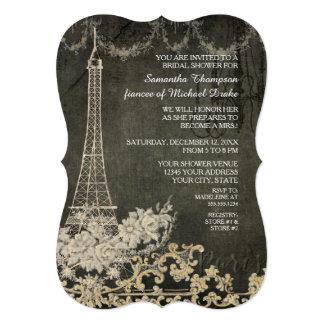 Chalkboard Vintage Paris Parisian Bridal Shower Card