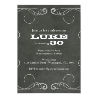 Chalkboard Vintage Party 30 40 50 60 anniversary Card