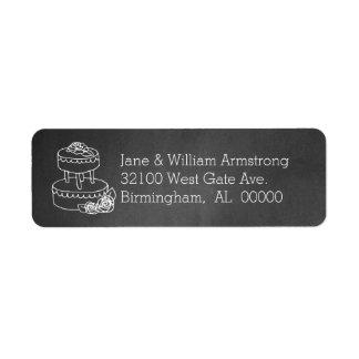 Chalkboard Wedding Address Labels