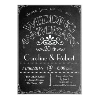 Chalkboard Wedding Anniversary Invitation 20th