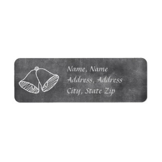 Chalkboard Wedding Bell Address Label