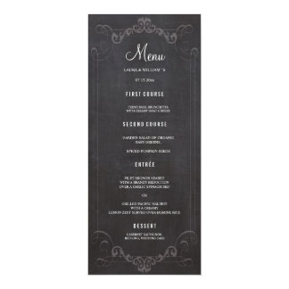 Chalkboard Wedding Dinner Menu Cards