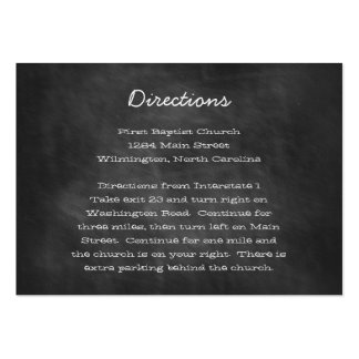 Chalkboard Wedding Directions Insert Cards Pack Of Chubby Business Cards