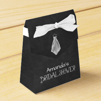 Chalkboard Wedding Dress Bridal Shower Favour Box