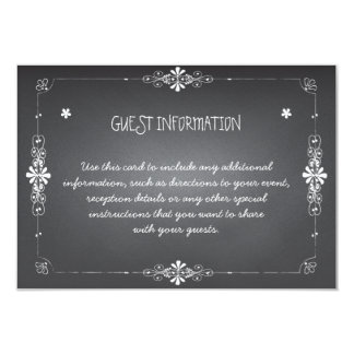 Chalkboard Wedding Guest Information Insert Card