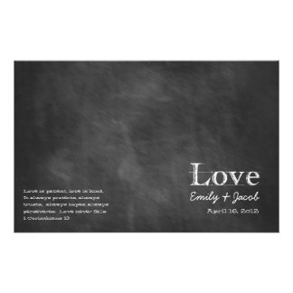 Chalkboard Wedding Programs Flyers