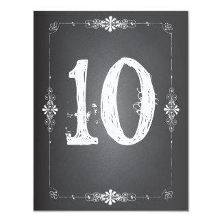 Chalkboard Wedding Reception Table Number Card 11 Cm X 14 Cm Invitation Card