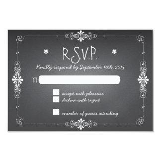 Chalkboard Wedding RSVP Response Card 9 Cm X 13 Cm Invitation Card