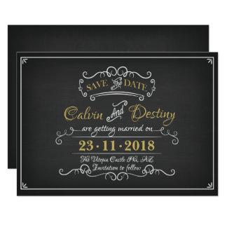 Chalkboard Wedding Save The Date Invite