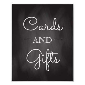Chalkboard Wedding Sign | Cards and Gifts Poster