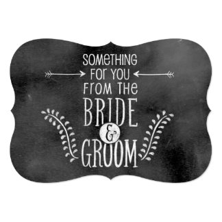 Chalkboard Wedding Sign: Favour or Gift Card