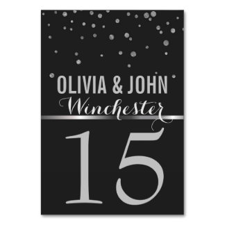 Chalkboard Wedding Table Numbers | Silver Confetti