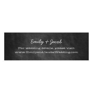 Chalkboard Wedding Website Insert Cards Pack Of Skinny Business Cards