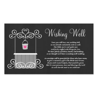 Chalkboard Wedding Wishing Well Pack Of Standard Business Cards