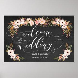 Chalkboard Welcome Wedding Poster