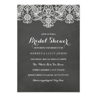 Chalkboard & White Lace | Bridal Shower Invitation